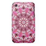 Twirling Pink, Abstract Candy Lace Jewels Mandala Case-Mate iPhone 3 Cases