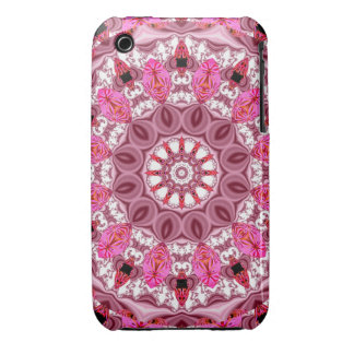 Twirling Pink Abstract Candy Lace Jewels Mandala Case-Mate iPhone 3 Cases