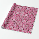 Twirling Pink, Abstract Candy Lace Jewels Mandala Gift Wrap