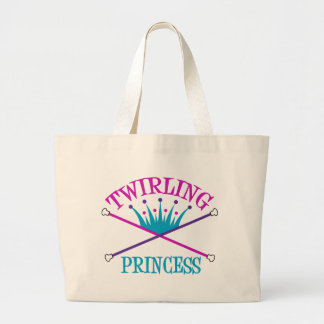 Twirling Princess Tote Bags