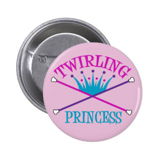 Twirling Princess 2 Inch Round Button
