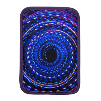 Twirling spiral light spin cycle iPad mini sleeve