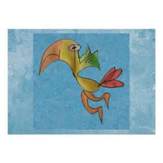 Twirly Birdly Poster