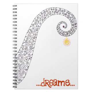 Twirly dreams note book