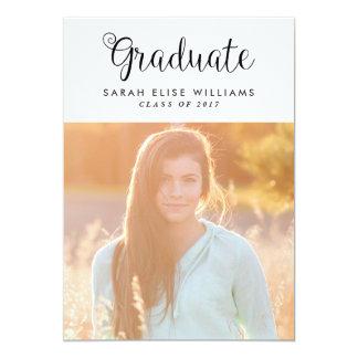 Twirly Graduation Invitations
