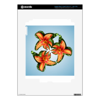 Twirly orange tiger lily skin for iPad 3