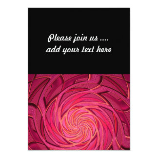 Twirly Pink Abstract Art Card
