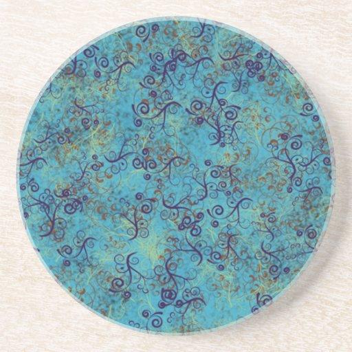 Twirly práctico de costa azul y rizado de Swirly Posavaso Para Bebida
