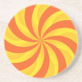 Twirly Sunburst Pattern Coaster