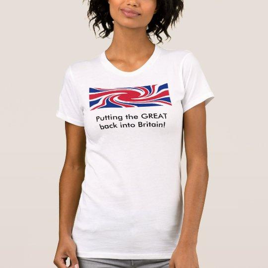 Twirly Union Jack - T-shirt