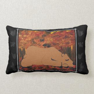 TWIS Lumbar Pillow: Blair's Animal Corner Grizzly Lumbar Pillow