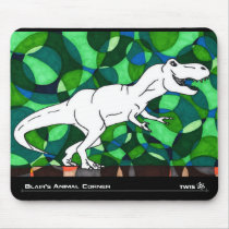 TWIS Mousepad: Blair's Animal Corner T Rex Mouse Pad