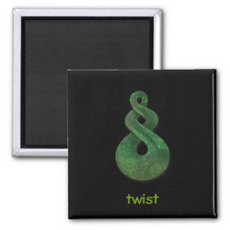 twist 2 inch square magnet