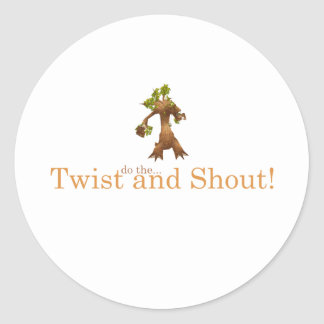 Twist and Shout! Classic Round Sticker