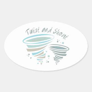 Twist and Shout Oval Sticker