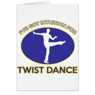 twist design greeting card