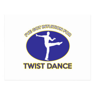 twist design post card