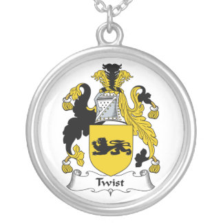 Twist Family Crest Silver Plated Necklace