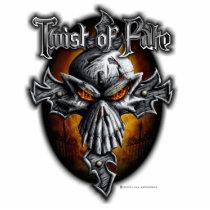 biker, bones, cross, cult, dark, devil, dragon, evil, fantasy, fire, gargoyle, gothic, grim, reaper, head, demons, Photo Sculpture with custom graphic design
