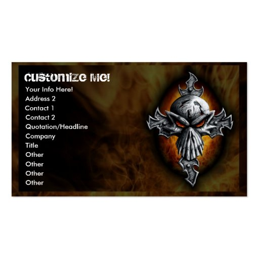 Twist Skull and Cross Business Card
