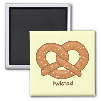 Twisted 2 Inch Square Magnet