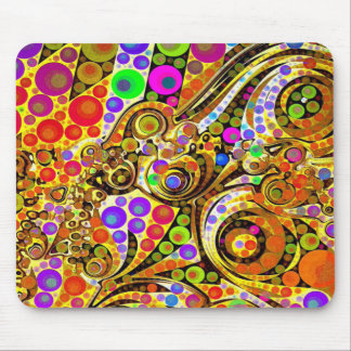 Twisted Abstract Design Mousepad