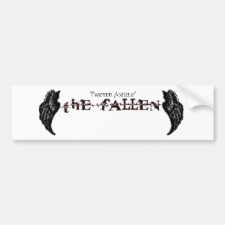 Twisted Angels - The Fallen black logo BS Bumper Sticker