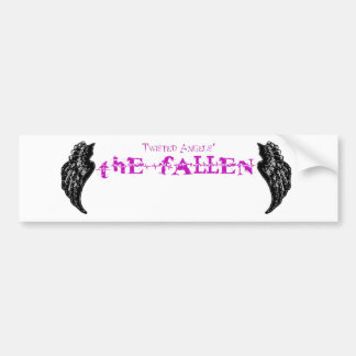 Twisted Angels - The Fallen purple logo bumper sti Bumper Sticker