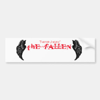 Twisted Angels - The Fallen red logo bumper sticke Bumper Sticker