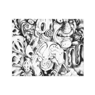Twisted Art Canvas Print