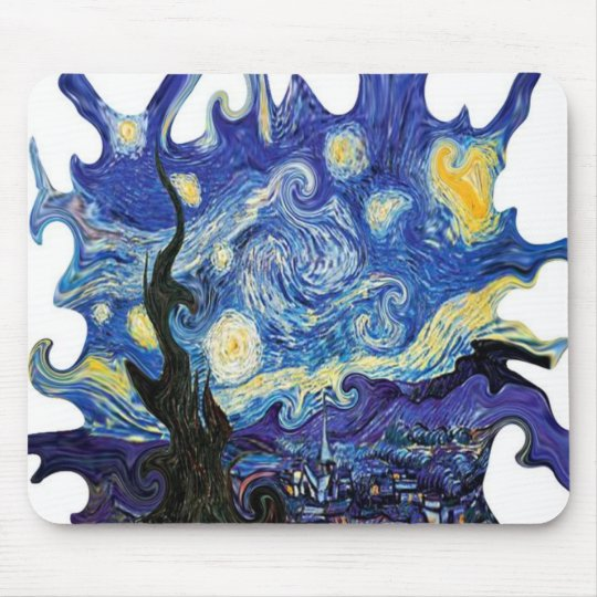 Twisted Art Van Gogh Starry Night Mouse Pad