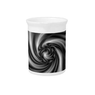 Twisted artist beverage pitcher