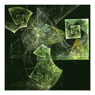 Twisted Balance Abstract Art Card