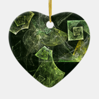 Twisted Balance Abstract Art Heart Ornament