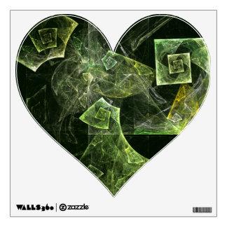 Twisted Balance Abstract Art Heart Wall Sticker