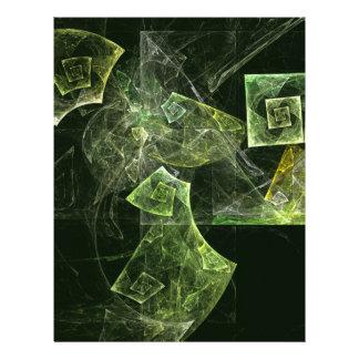Twisted Balance Abstract Art Letterhead