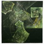 Twisted Balance Abstract Art Napkin