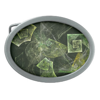 Twisted Balance Abstract Art Oval Belt Buckle