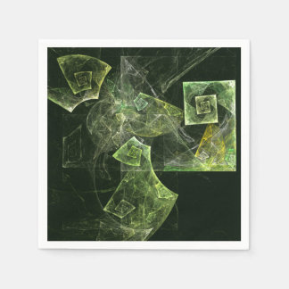 Twisted Balance Abstract Art Paper Napkin