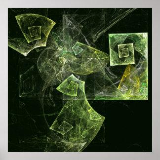 Twisted Balance Abstract Art Print