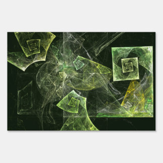 Twisted Balance Abstract Art Sign