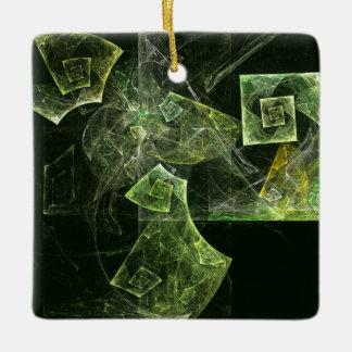 Twisted Balance Abstract Art Square Ornament