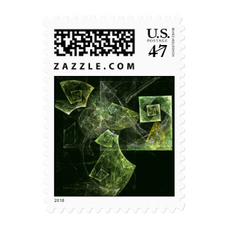 Twisted Balance Abstract Postage Stamp