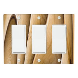 Twisted Bamboo Light Switch Cover