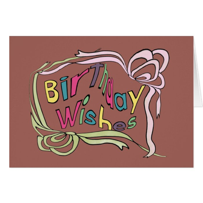Twisted Birthday Wishes Card