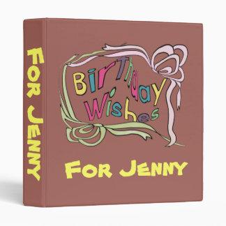 Twisted Birthday Wishes Vinyl Binder