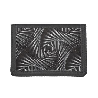 Twisted – Black Steel Trifold Wallet