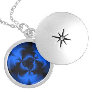 Twisted Blue Locket Necklace