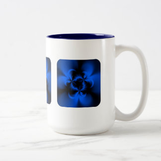 Twisted Blue Two-Tone Coffee Mug