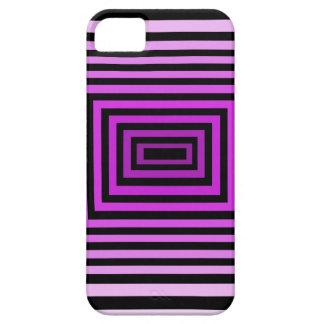 Twisted Brain Game Optical Illusion Purple Black iPhone 5 Cover